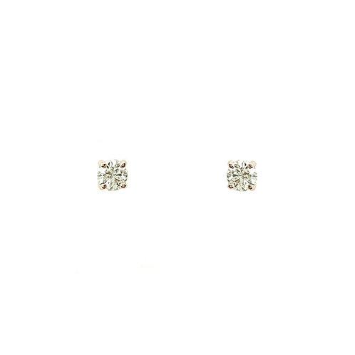Boucle d'oreille or rose diamant