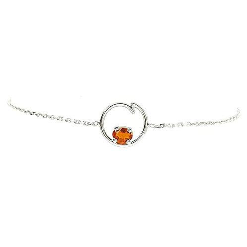 Bracelet or blanc et opale de feu