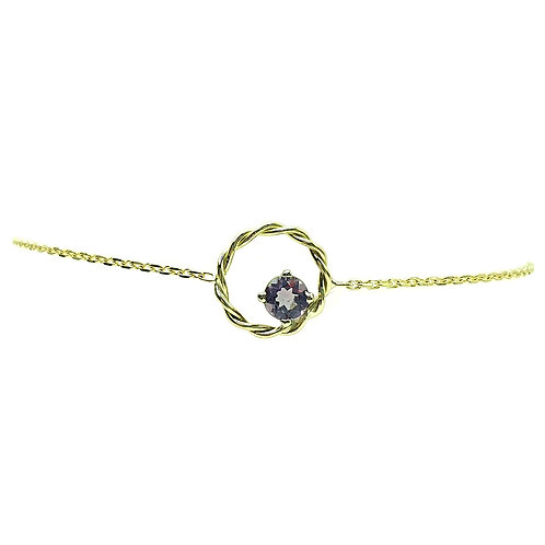 Bracelet or jaune Améthyste