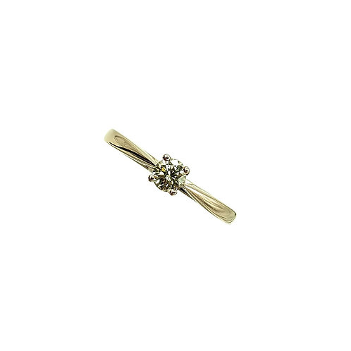 Solitaire or rose diamant champagne