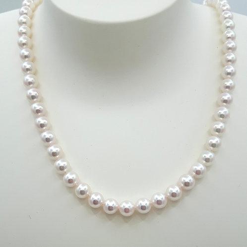 Collier perles japonaises