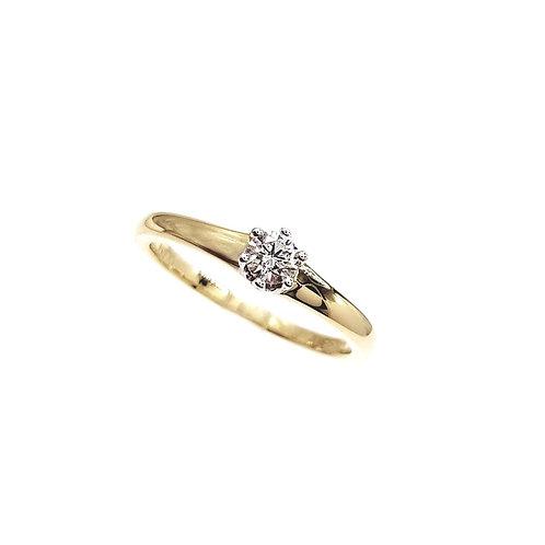 Bague Or jaune 18 carats solitaire diamant