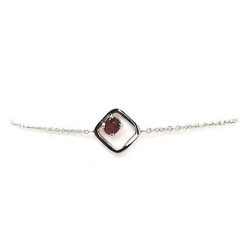Bracelet or blanc rubis