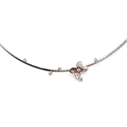 Collier Or blanc 18 carats diamants