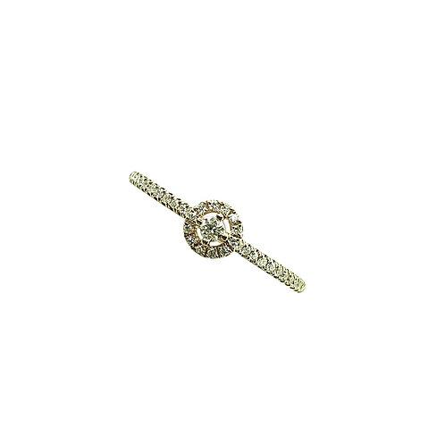 Bague or rose multi-diamants