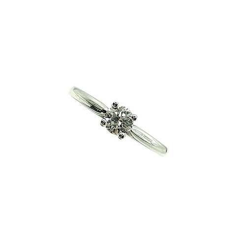 Bague Or blanc 18 carats solitaire diamant