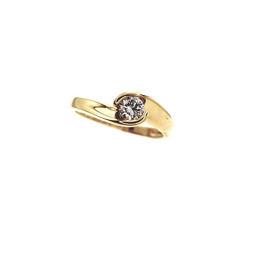 Bague Or jaune 18 carats solitaire diamant