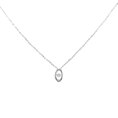 Collier Or blanc 18 carats diamant