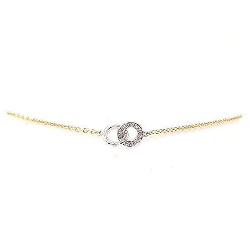 Bracelet or jaune et diamants