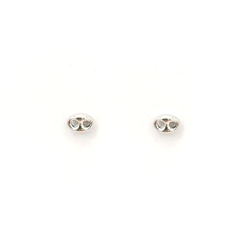 Boucle d'oreille or blanc 18 carats