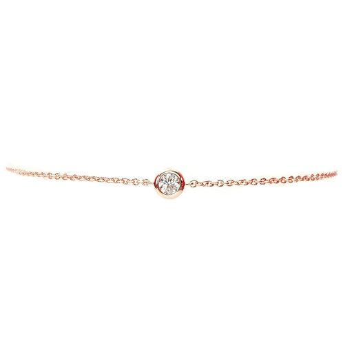 Bracelet or rose 18 carats diamant