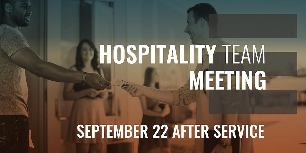 Hospitality Team Meeting