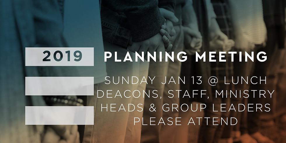 2019 Planning Meeting
