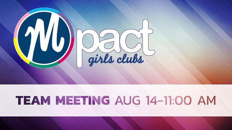 MPact Club Team Meeting