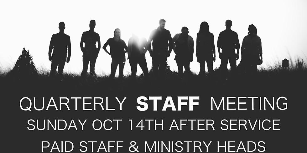 Quarterly Staff Meeting