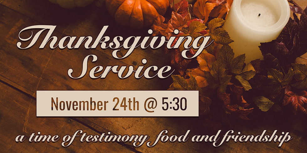 Thankfulness Service