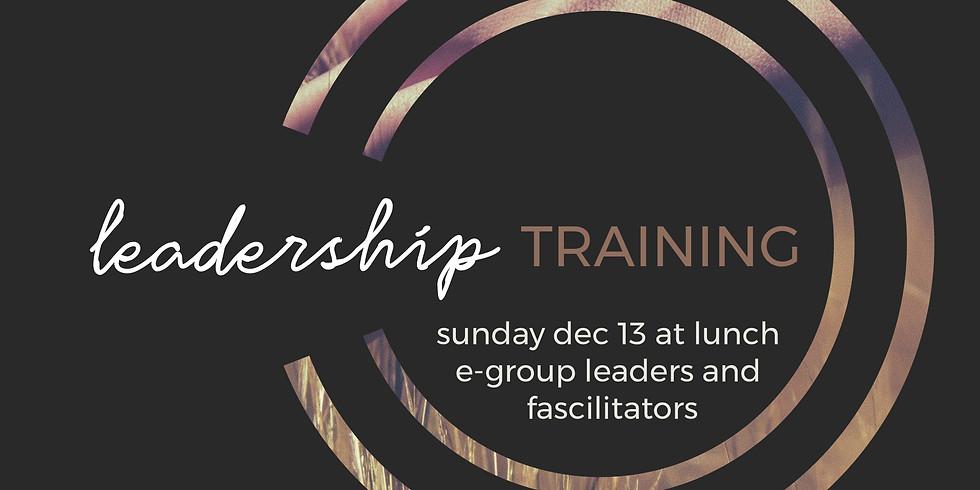 E-Group Leader Training