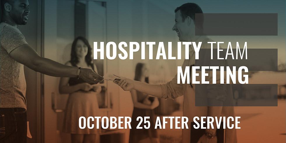 Hospitaality Team Meeting