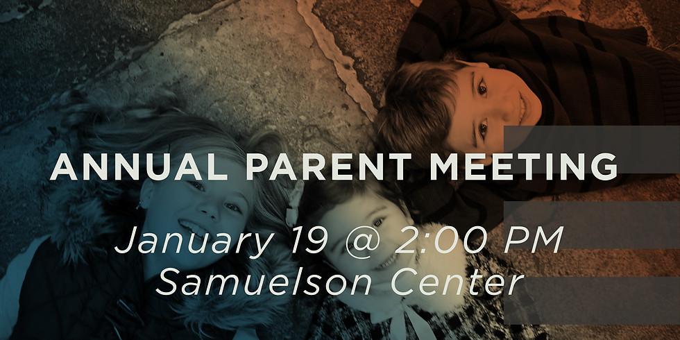 Annual Parent Meeting