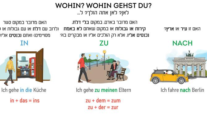 מילות היחס בגרמנית  (zu או nach?)