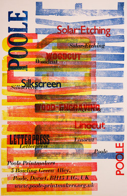 'Poole Printmakers' Poster
