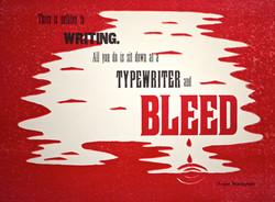 'Hemingway : Bleed' Poster