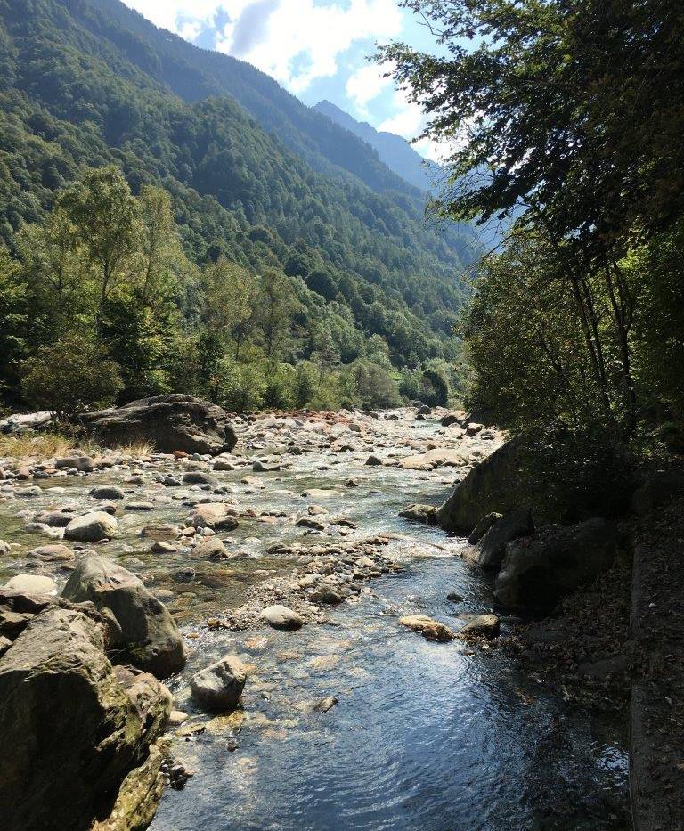 Weg entlang am Fluss