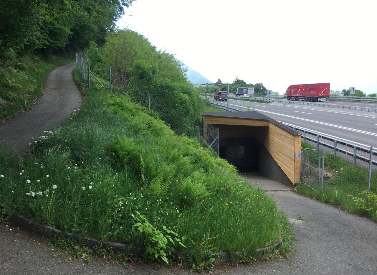 Unterführung der Autobahn