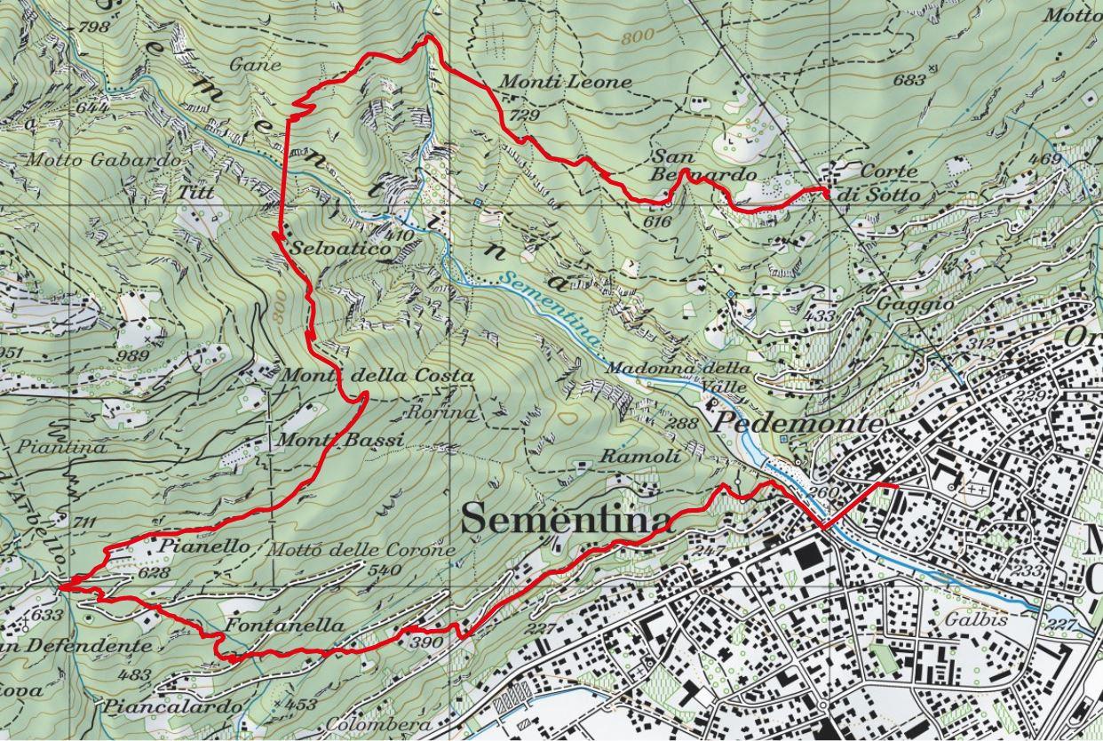 Kartenausschnitt Tibetische Brücke