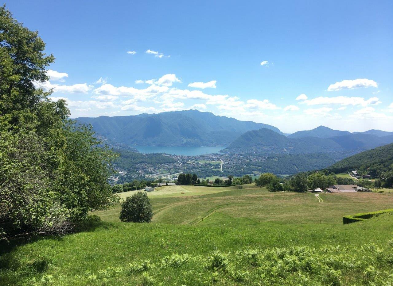 Sicht auf Lugano und San Salvatore