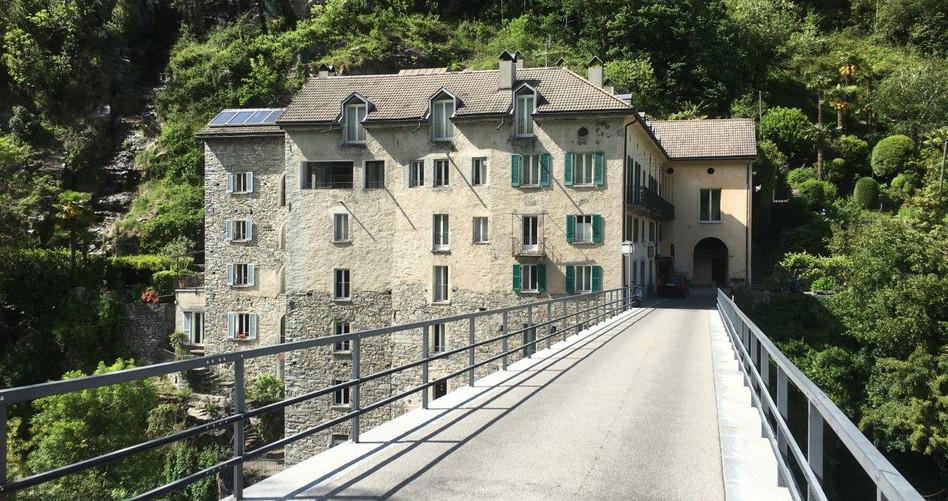 Rückfahrt Brücke über Isorno