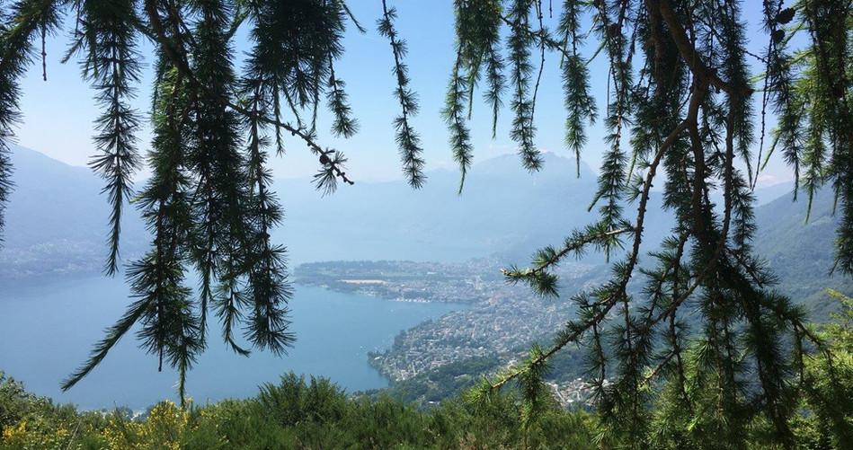 Ausblick beim Aussichtspunkt Monte Motti