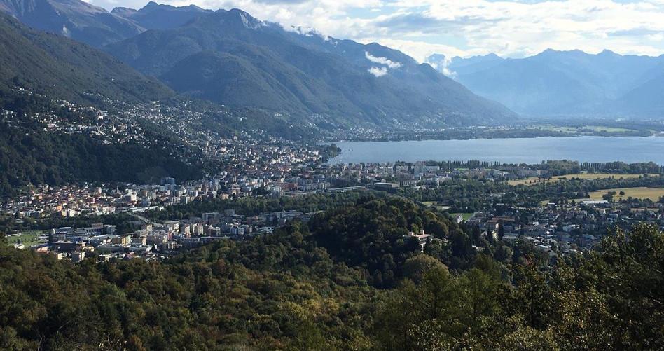 Sicht Richtung Locarno, Tenero