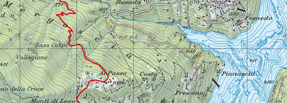 Kartenausschnitt ab Mergoscia