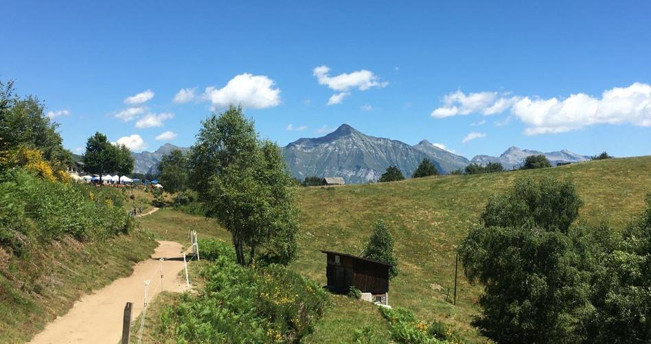 Blick Richtung Alpe Cardada