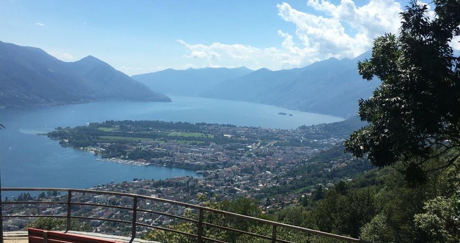 Aussicht vom Val Resa Richtung Locarno Ascona