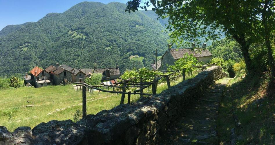 Der Rückweg führt an Weilern vorbei