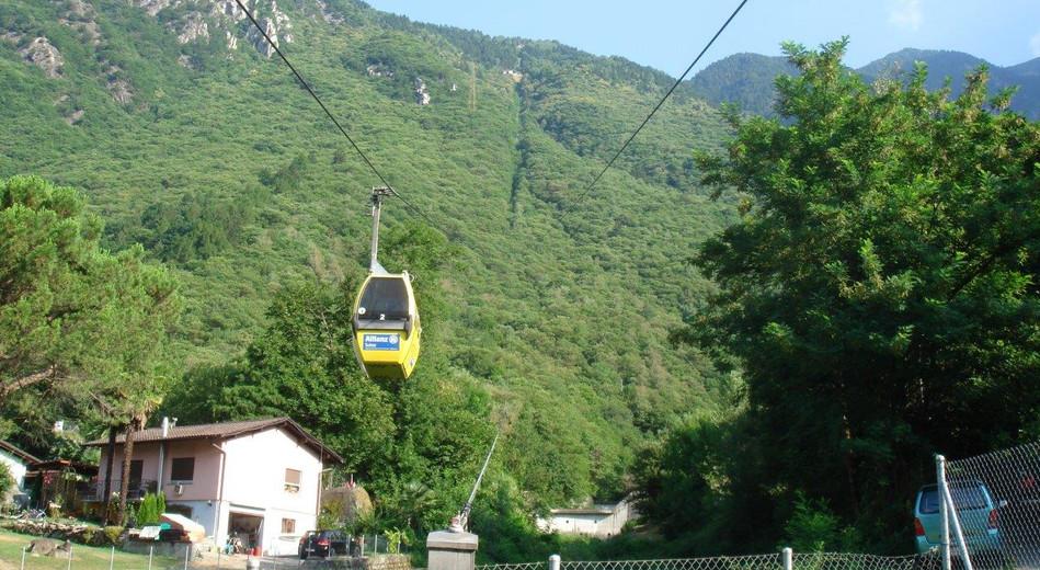 Seilbahn ab Lumino nach Monti di Saurù