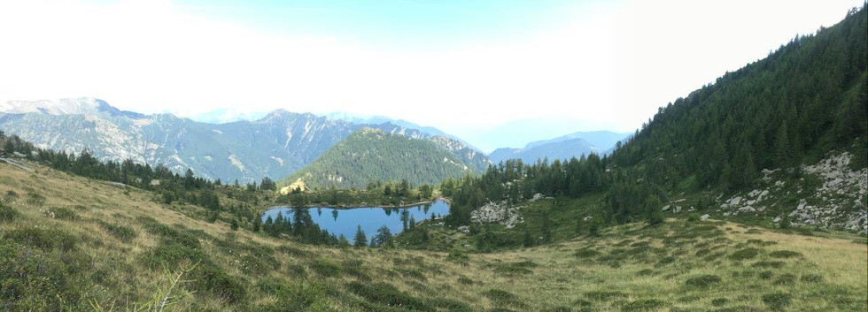 Blick auf laghetto alpe salei