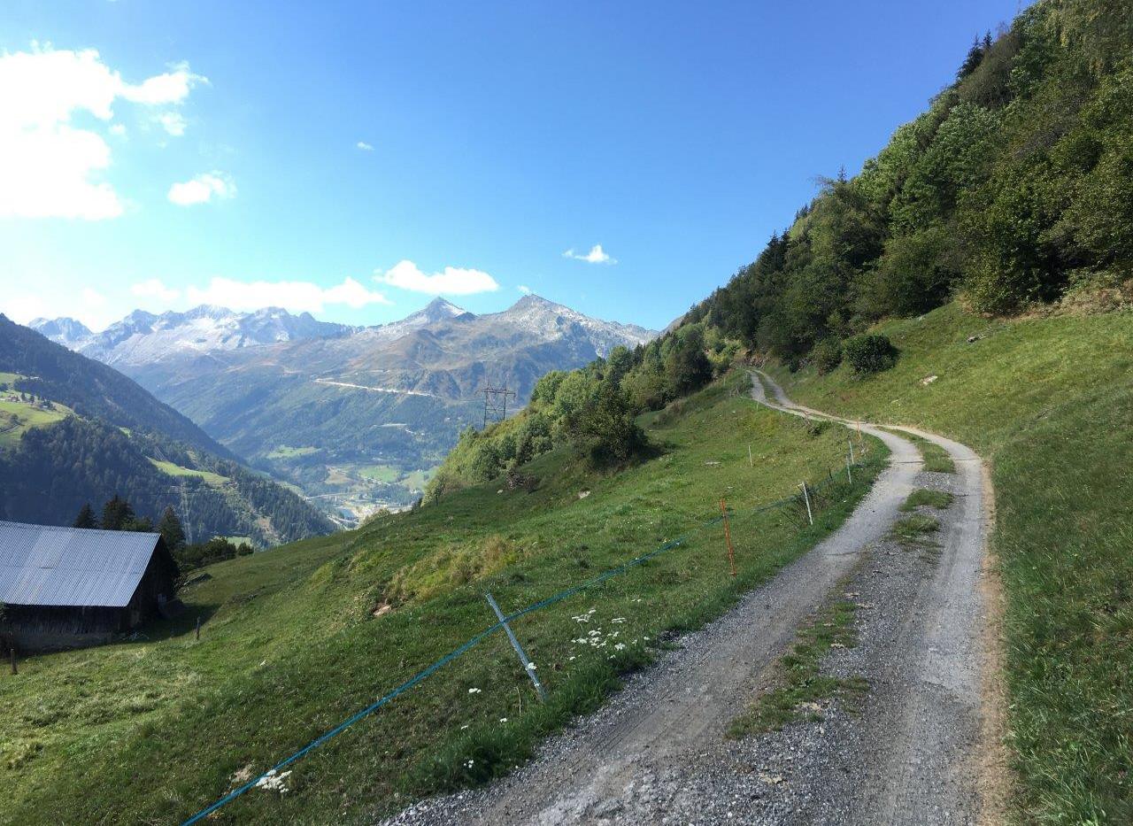 Weg Richtung Monte di Vento