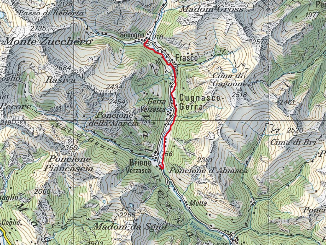 Kartenausschnitt-Sonogno-Brione