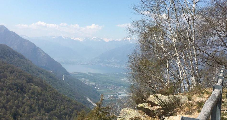Blick bis Lago Maggiore