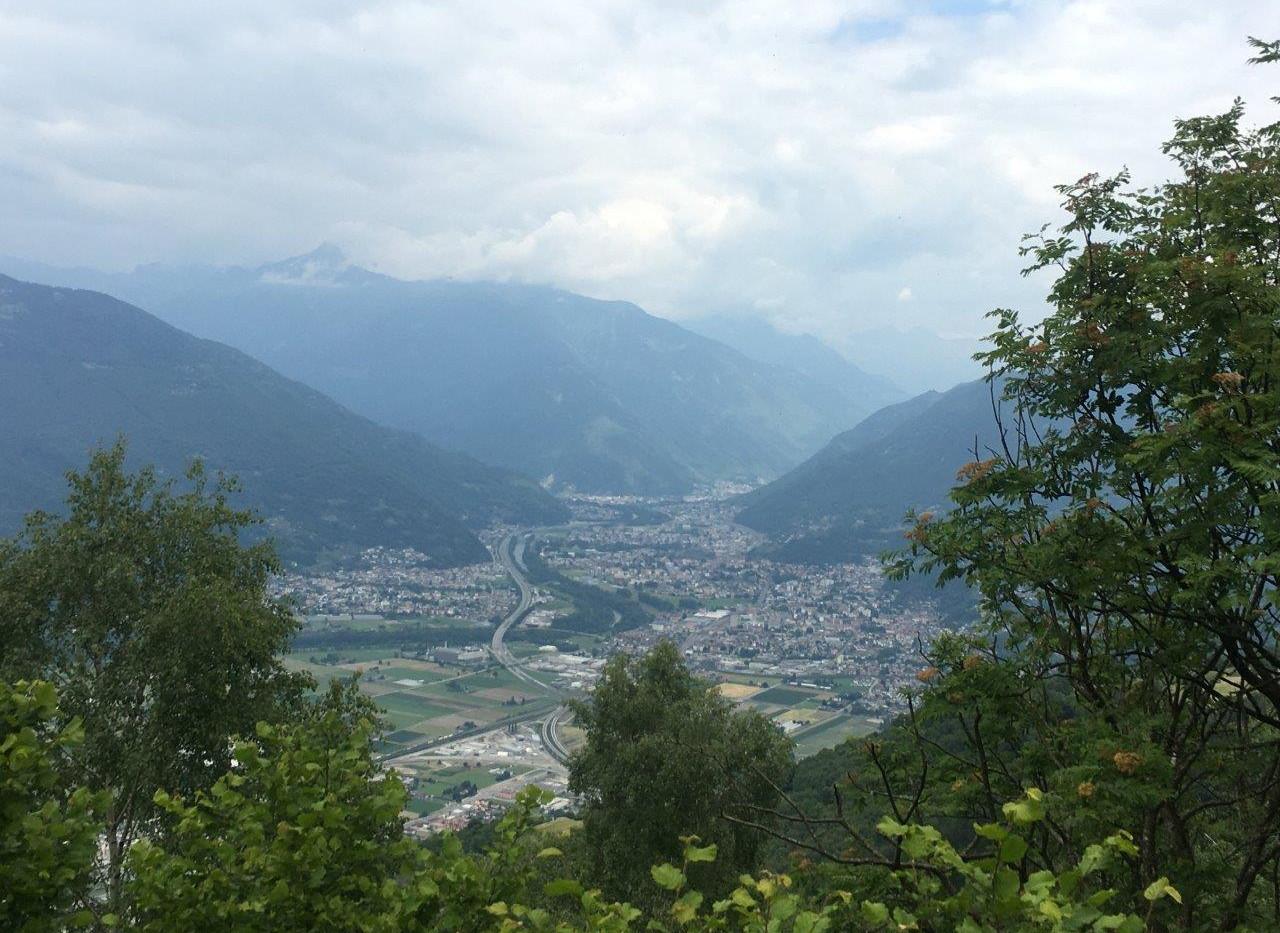 Blick Richtung Bellinzona