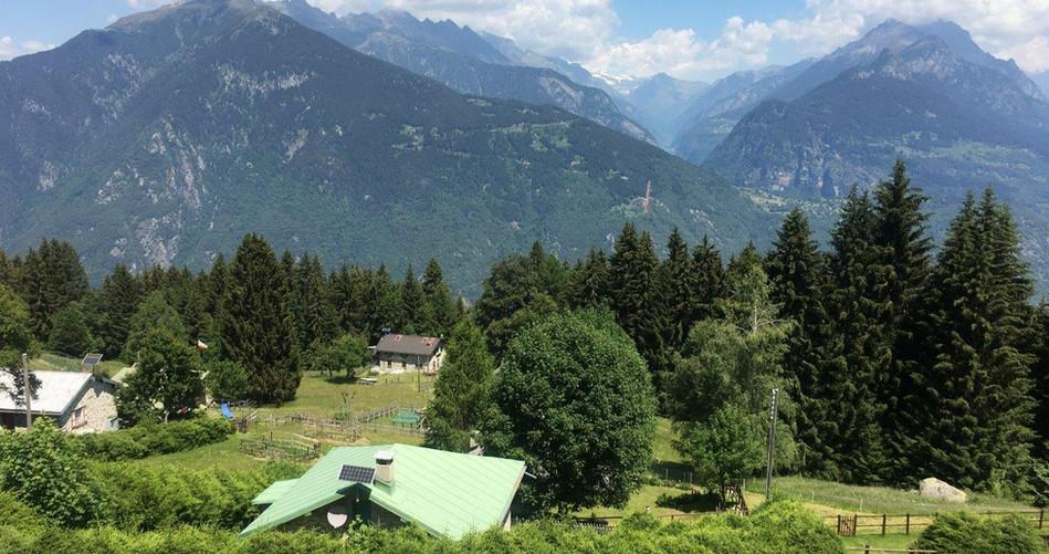 Sicht von Laura aus in Val Calanca