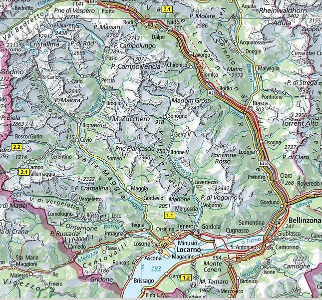 Karte_Tourenübersicht Schneeschuhtouren.