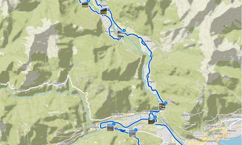 Kartenausschnitt Ascona-Lodano-Arcegna