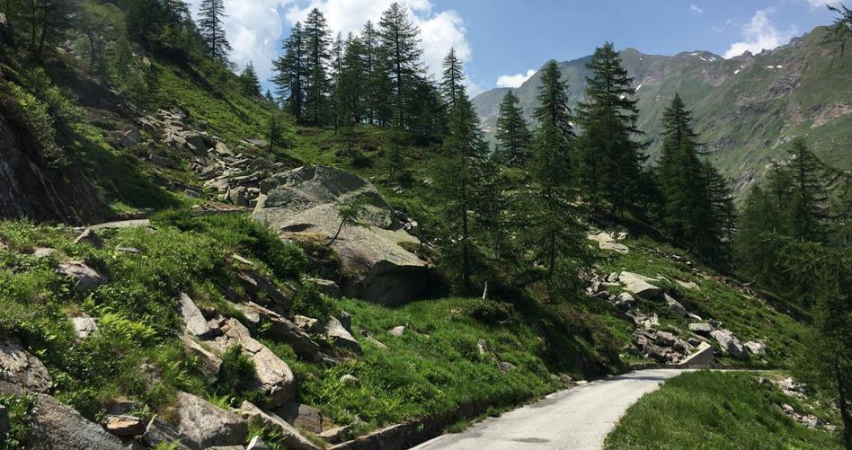 Aufstieg nach dem Lago Sambuco