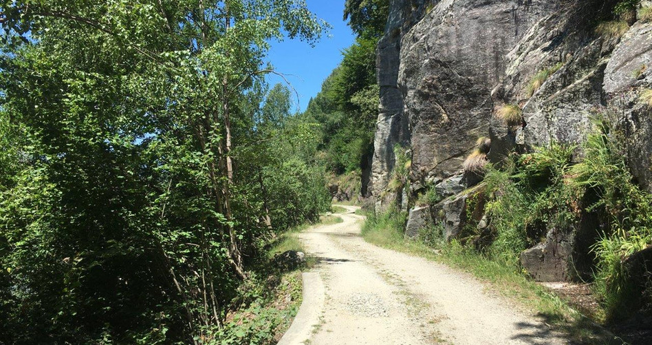 Strasse Ausgangs Monte Brè