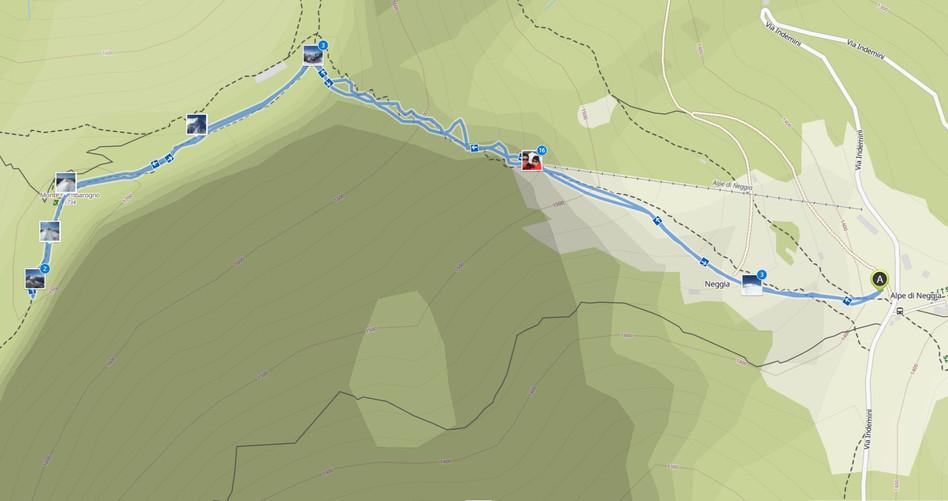 Kartenausschnitt Monte Gambarogno