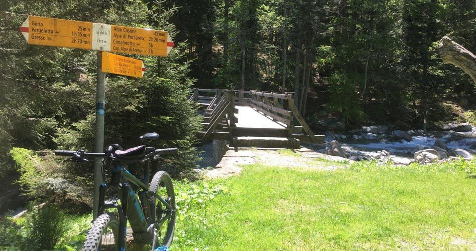 Wanderweg Richtung Alpe Salei